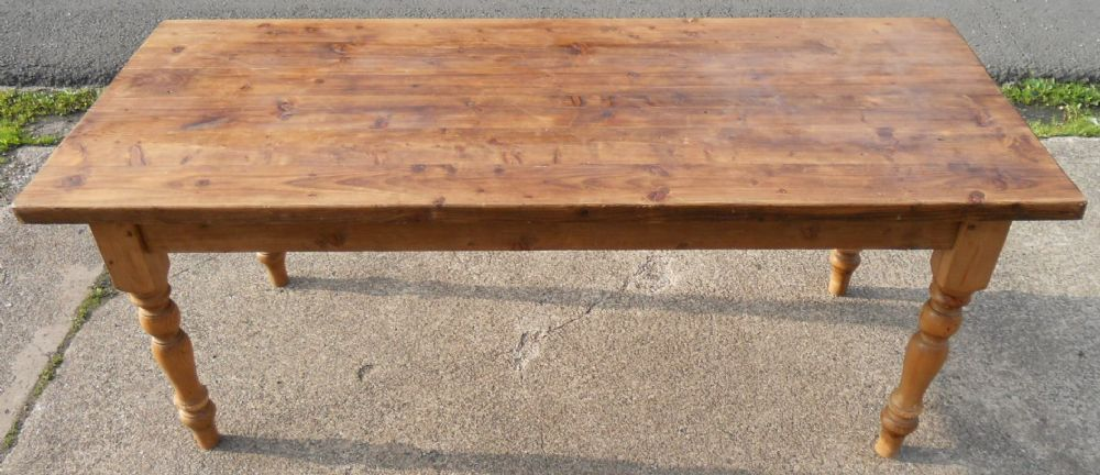 Pine Kitchen Dining Table to Seat Eight